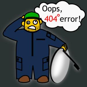 Oops, 404 error!