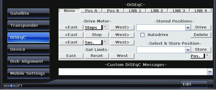 Опция выборa DiSEqC