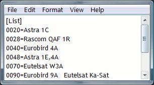 Transponders all.list