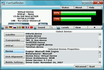 FastSatfinder - Satellite Finder Software